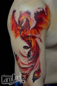 25 best ideas about watercolor phoenix tattoo on