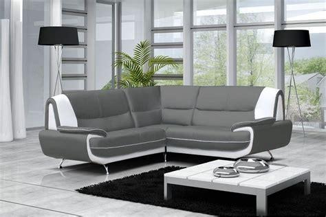 canapé gris blanc canap 233 moderne simili cuir r 233 versible gris noir