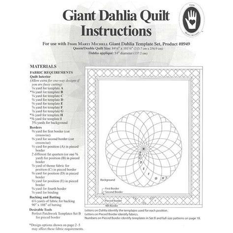 marti michell giant dahlia template set