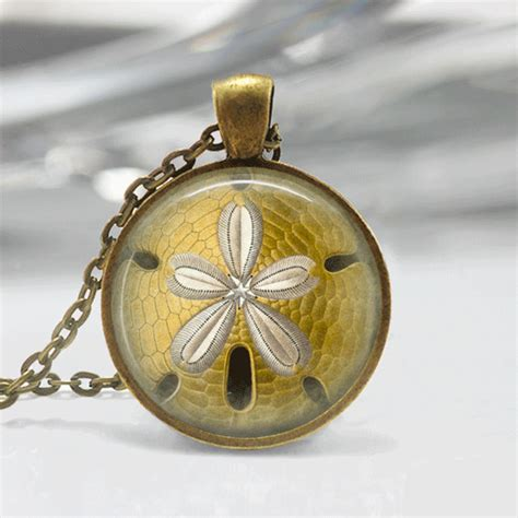 glass tiles for jewelry glass tile necklace sand dollar necklace glass tile jewelry