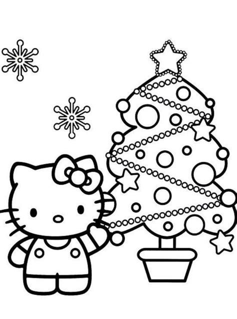 Desenho de Natal da Hello Kitty para colorir - Tudodesenhos