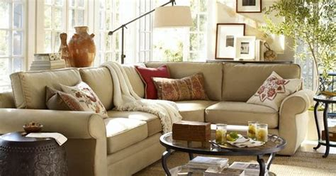 pottery barn living room love decorating pinterest living room love the light behind couch the round tables