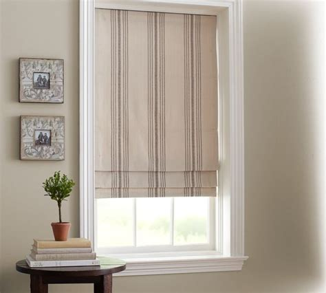 Striped Home Decor Fabric by French Stripe Cordless Roman Shade Traditional Roman