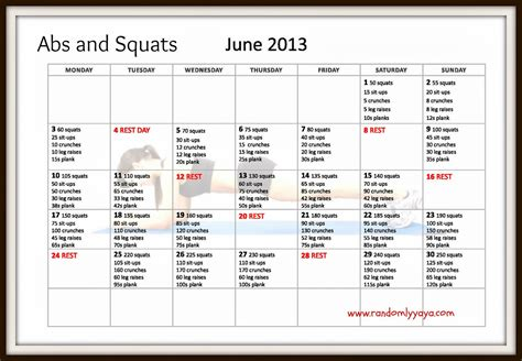 squats and abs challenge ab and squat challenge new calendar template site
