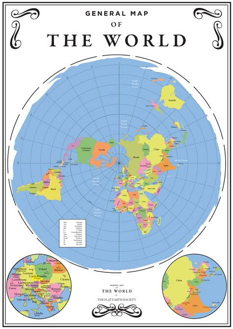 flat world map on flat earth maps our world
