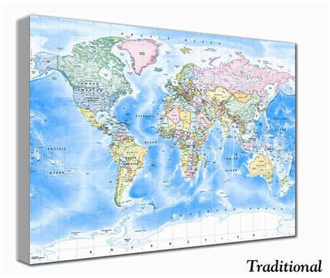 world map canvas world map canvas print by maps on notonthehighstreet