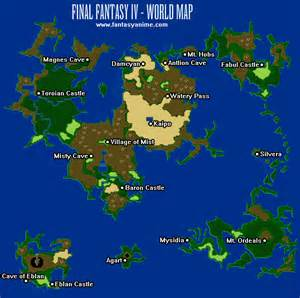 Ff2 World Map by Final Fantasy Map Nes Galleryhip Com The Hippest