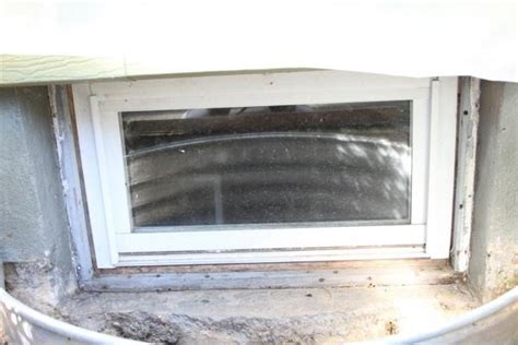 my basement window with wood frame is leaking photo