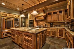Rustic Home Kitchen Design mountain style home decorated in rustic style