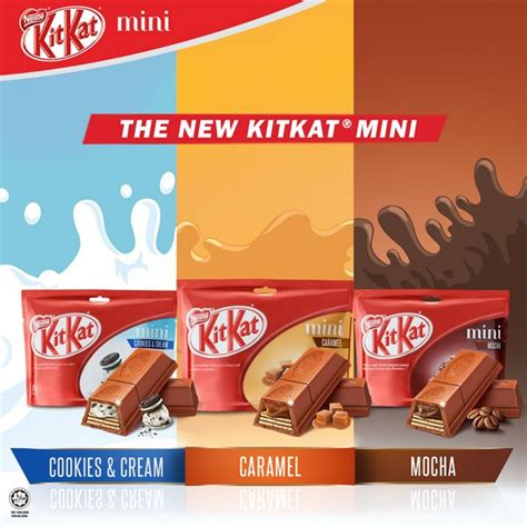 Kitkat Malaysia Cookies And kitkat mini flavours of cookies caramel and mocha