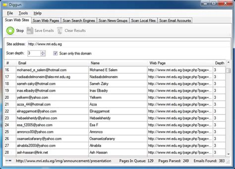 How To Extract Email Addresses From Search Diggun Site Email Extractor