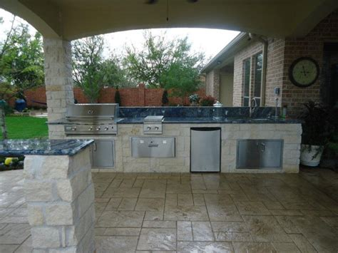 Summer Kitchen Design | summer kitchen fire pit eclectic patio houston