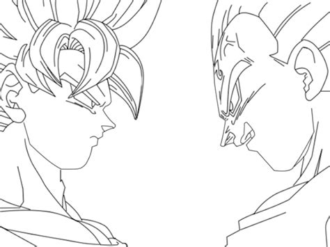 sketch of goku ssj4 coloring pages