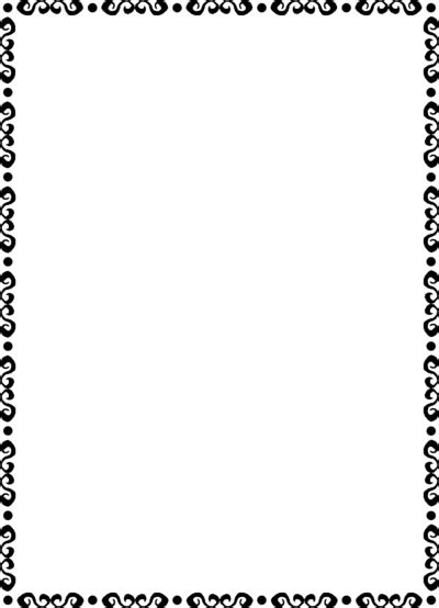 8 5 X 5 5 Fancy Card Border Polka Dot Templates by Fancy Border Clip Cliparts Co