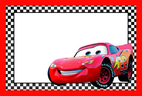 Cars Invitation Cards Templates by Cars Lightning Mcqueen Printable Template Free Printable