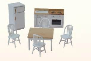 Dolls House Kitchen Furniture Dollhouse Kitchen Wooden Furniture 1 12th Scale Set Ebay