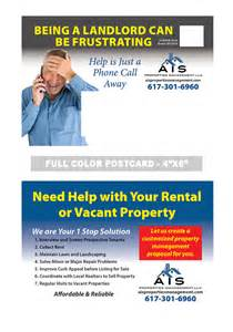 postcard exles templates property management postcard ideas free home design