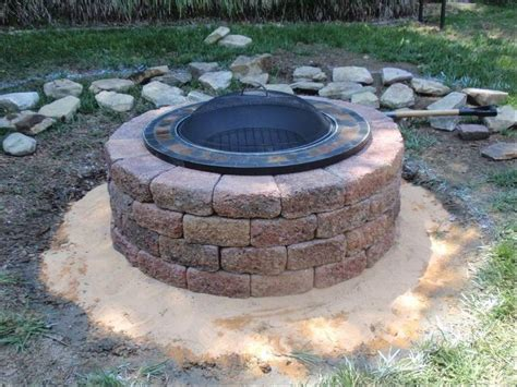pit made out of pavers up your backyard landscaping