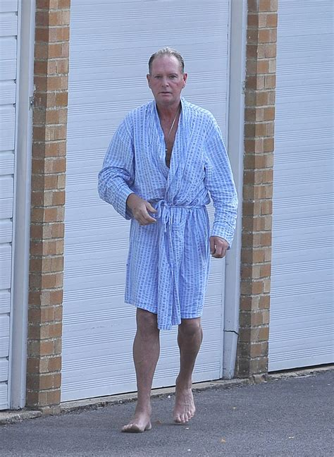 Dishevelled Dressing by Paul Gascoigne Is Pictured Looking Dishevelled Mirror