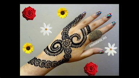 tutorial design henna diy henna designs how to apply easy simple new stylish