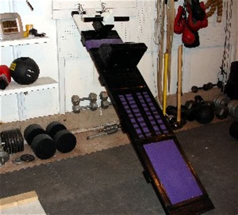 homemade incline sit up bench by ross enamait