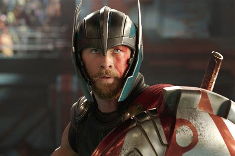 how much can chris hemsworth bench thor ragnarok review ew grades the new marvel movie ew com