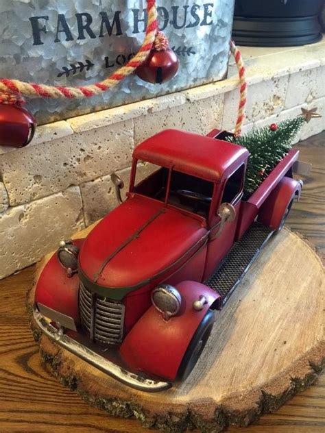 red christmas vintage pick ups for sale truck timey truck