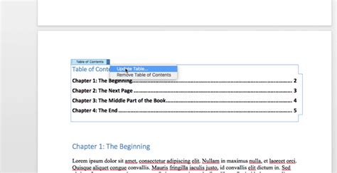 microsoft word table of contents how to create a table of contents in word bettercloud