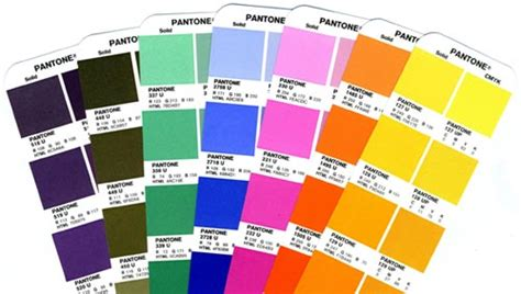 the pantone color chart