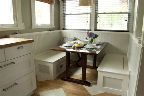 breakfast table with bench seat simple diy breakfast nook set with white wood storage