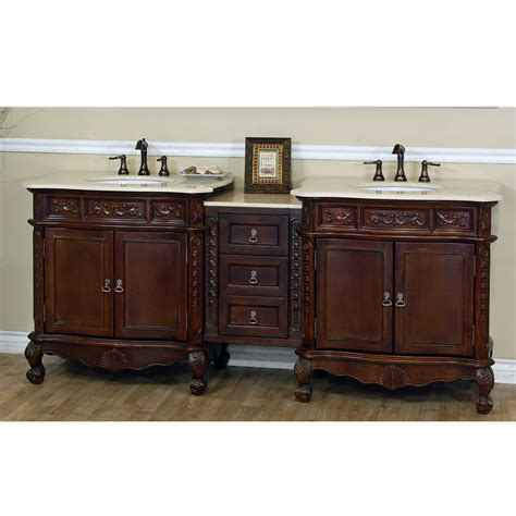 bellaterra home ashby 83 quot antique walnut finish