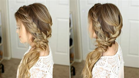 homecoming hairstyles side swept braided side swept prom hairstyle missy sue youtube