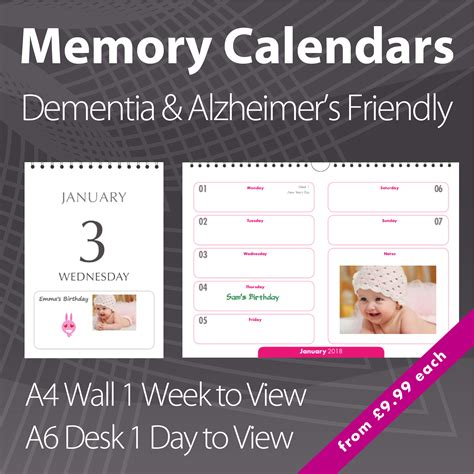 personalised calendar printing charity photo