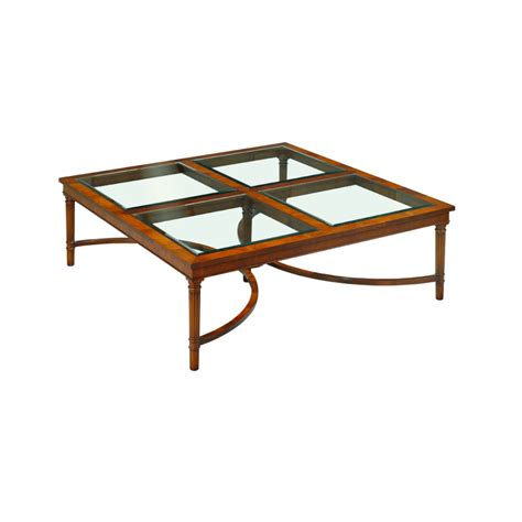 Mahogany And Glass Coffee Table Mahogany Coffee Table With Glass Top