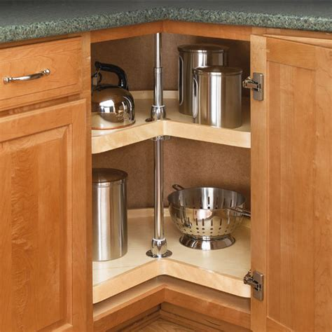 Kitchen Cabinet Lazy Susan Rev A Shelf Wood Classic Quot Kidney Shaped Independently Rotating 2 Shelf Lazy Susans