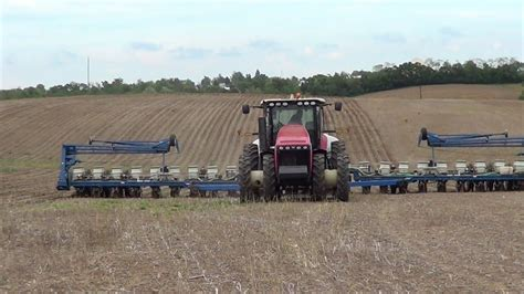 Kinze Planters by Planting Corn In Maysville Kentucky With A Versatile 310 Tractor And 24 Row Kinze Planter