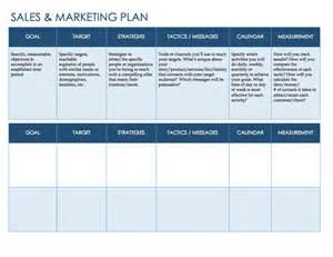 Plans For Sale sales and marketing plan template for word