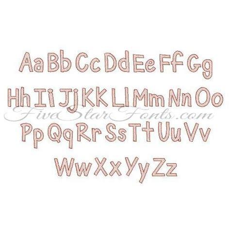 sketchbook font sketch embroidery font