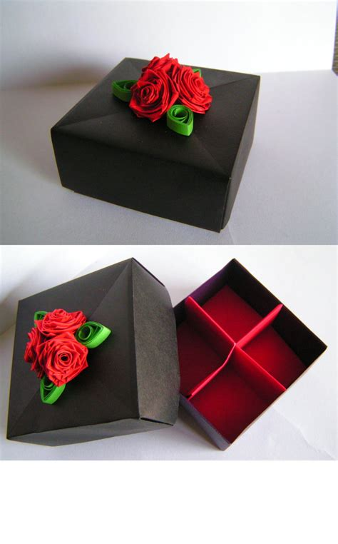 Papercraft Gift Box - black masu gift box by juniper on deviantart