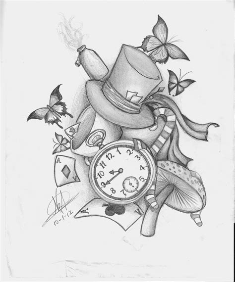 alice in wonderland tattoos small in tattoos designs ideas and meaning