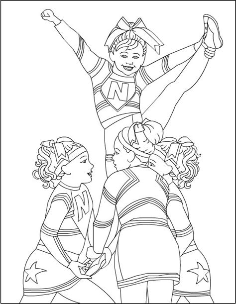printable coloring pages cheerleaders cheerleading coloring pages coloring pages to print