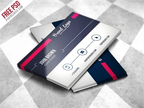 Modern Business Card Design Template Free Psd Download Download Psd Business Card Website Template Free