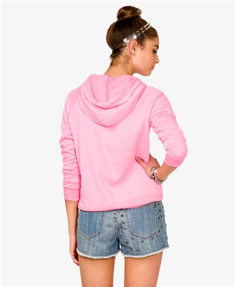 Jaket Hoodie 21 Pink lyst forever 21 minnie mouse hoodie in pink