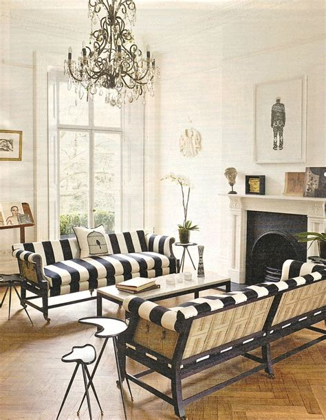 beautiful black and white striped sofas stripes
