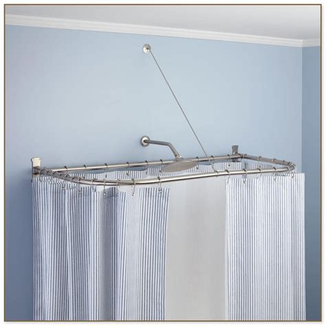 neo angle shower curtain rod neo angle shower rod extra wide shower curtain in