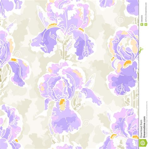 iris flower template seamless pattern with iris royalty free stock photo