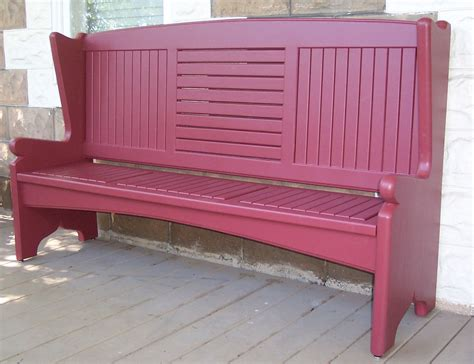 bench on front porch hand made front porch bench by sjk woodcraft design