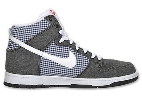 Nike Gingham Dunks From Outfitters by Nike Dunk High Black Denim Blue Gingham Sneakernews
