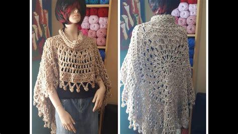 poncho laura zepeda crochet circular poncho for begginers youtube