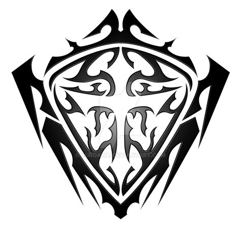 shield tribal v2 by kuroakai on deviantart